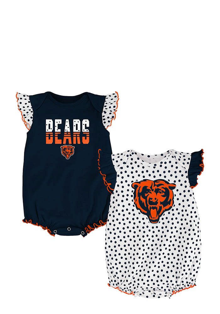 Chicago Bears Baby Navy Blue Jumper Set Creeper - Image 1