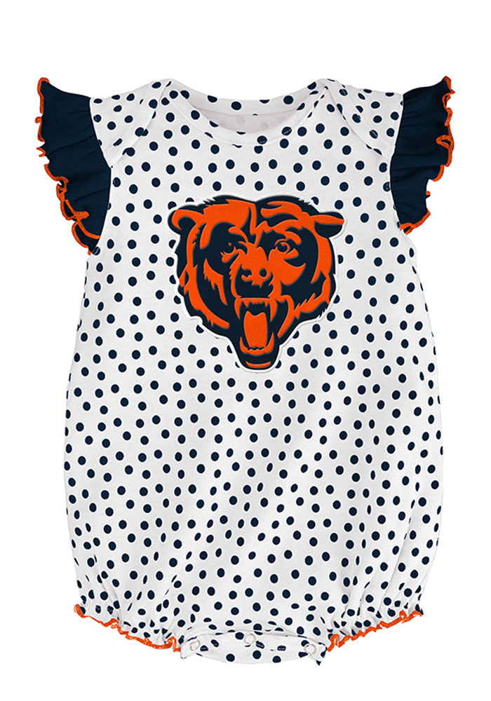 Chicago Bears Baby Navy Blue Jumper Set Creeper - Image 2