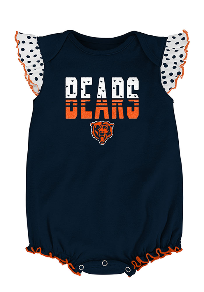 Chicago Bears Baby Navy Blue Jumper Set One Piece - Image 3