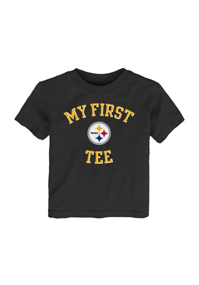 Pittsburgh Steelers Toddler Black Jumper Short Sleeve T-Shirt - Image 1