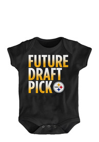 Pittsburgh Steelers Baby Black Future Draft Pick One Piece