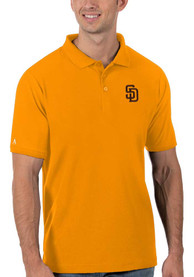 San Diego Padres Antigua Legacy Pique Polo Shirt - Gold