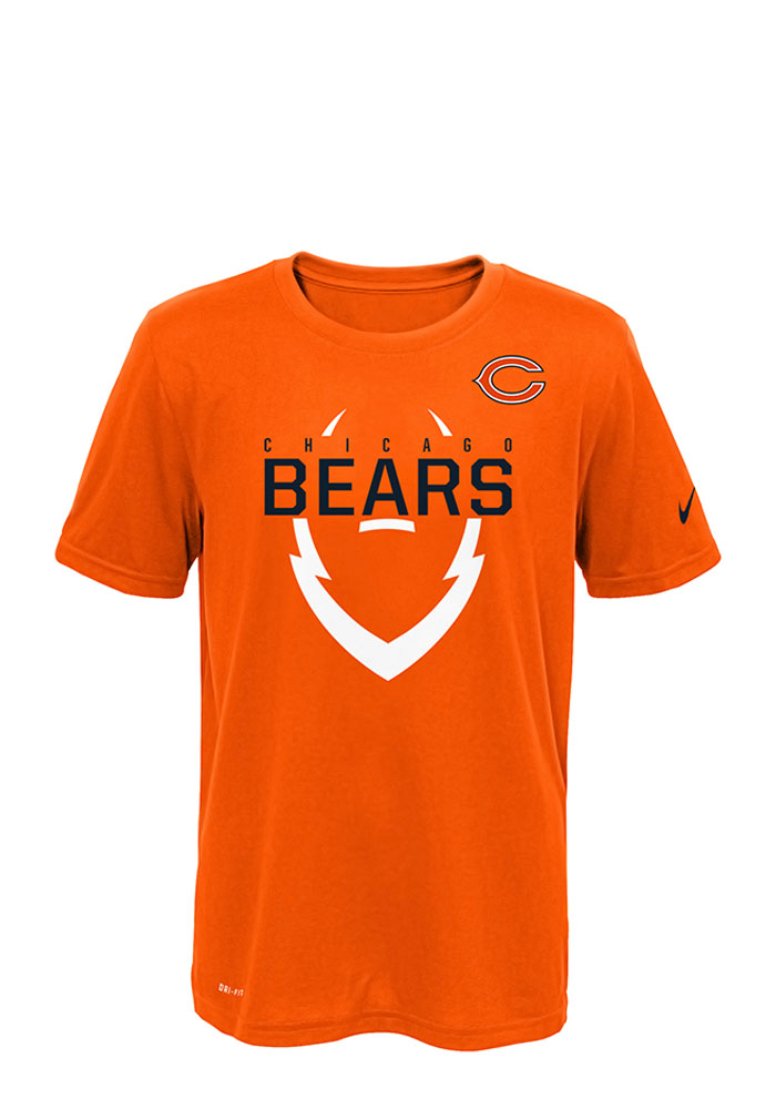 Chicago Bears Youth Orange Outer Short Sleeve T-Shirt - Image 1