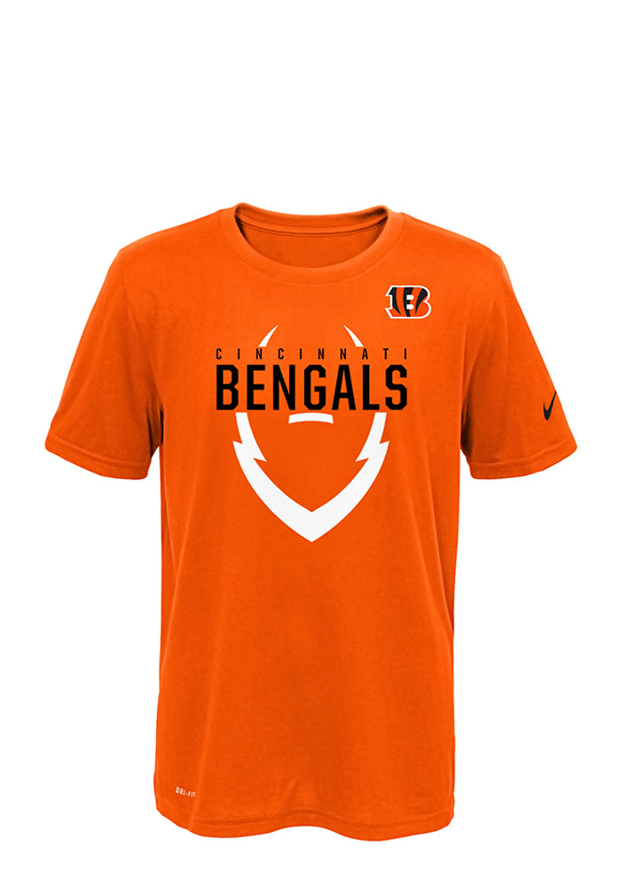 Cincinnati Bengals Youth Orange Outer Short Sleeve T-Shirt - Image 1