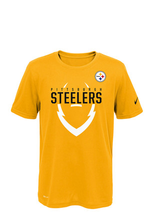 Pittsburgh Steelers Youth Gold Outer Performance T-Shirt