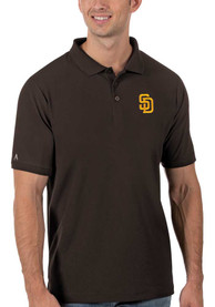 San Diego Padres Antigua Legacy Pique Polo Shirt - Brown
