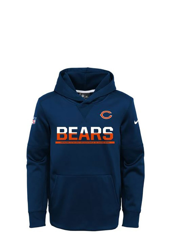 Chicago Bears Youth Circuit Hooded Sweatshirt - Navy Blue