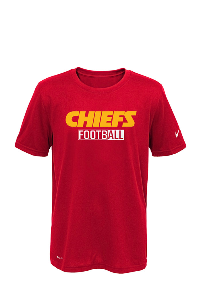 Kansas City Chiefs Youth Red All Football Legend Short Sleeve T-Shirt - Image 1