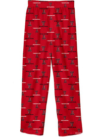 Texas Tech Red Raiders Youth All Over Sleep Pants - Red