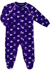 K-State Wildcats Baby All Over Purple All Over One Piece Pajamas