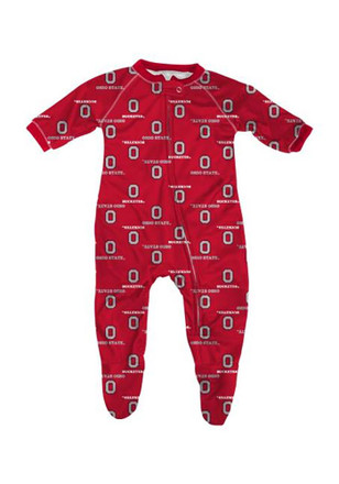 Ohio State Buckeyes Baby All Over Red All Over Creeper Pajamas
