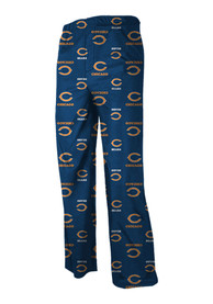 Chicago Bears Youth Navy Blue All Over Sleep Pants