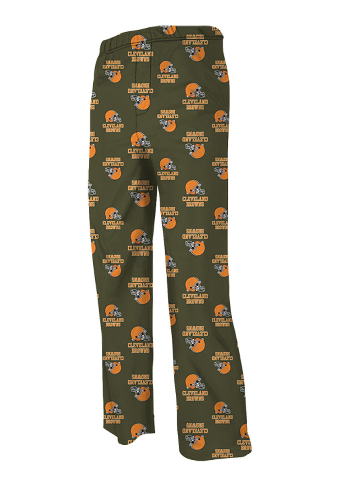 Cleveland Browns Youth Brown All Over Sleep Pants - Image 1