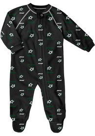 Dallas Stars Baby All Over Black All Over One Piece Pajamas