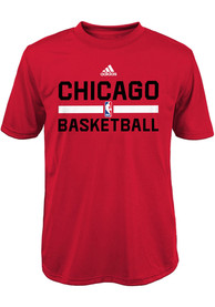 Chicago Bulls Youth Practice Wear T-Shirt - Red