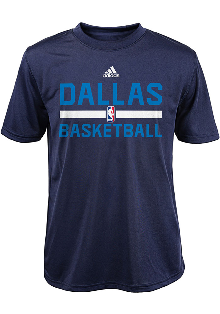 Dallas Mavericks Youth Navy Blue Practice Wear Short Sleeve T-Shirt - Image 1