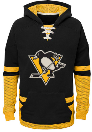 Pittsburgh Penguins Kids Black Vintage Hooded Sweatshirt