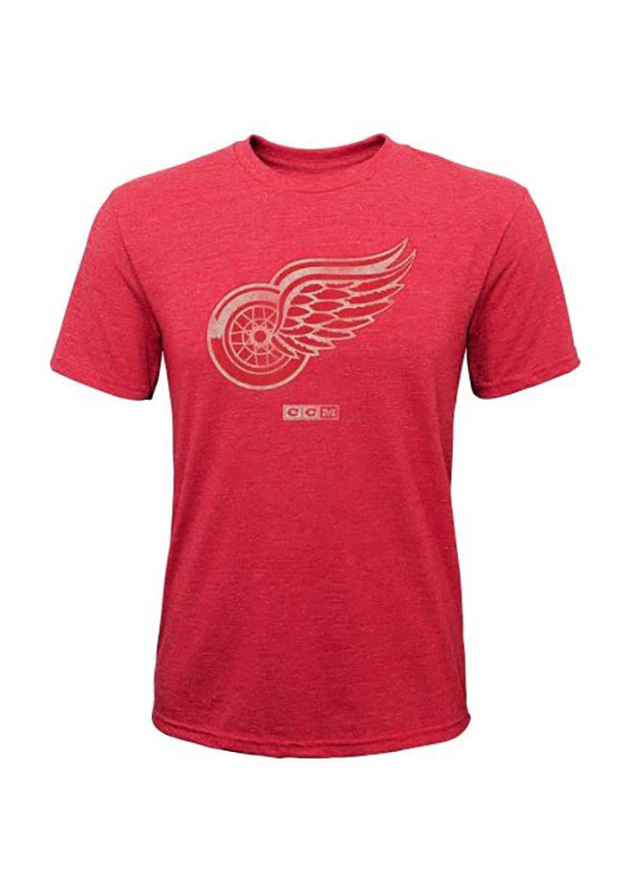 Detroit Red Wings Youth Red Bigger Short Sleeve Fashion T-Shirt - Image 1