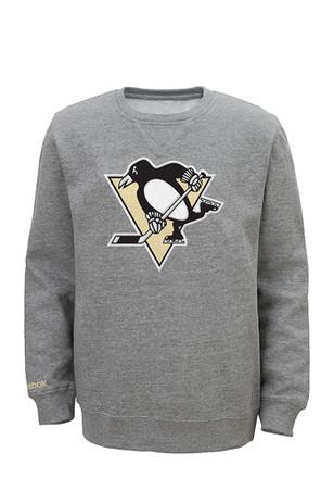 Pittsburgh Penguins Toddler Grey Fangear Crew Sweatshirt