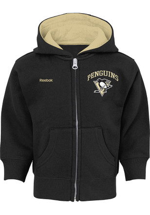 Pittsburgh Penguins Toddler Black Pledge Full Zip Jacket
