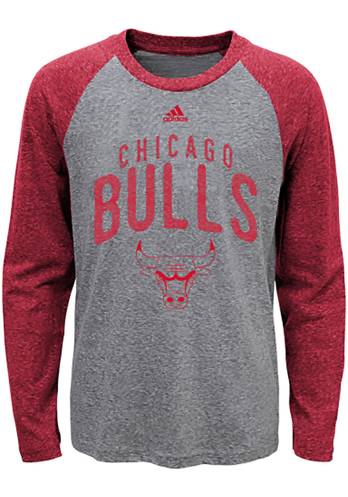 chicago bulls kids red pedigree long sleeve fashion t shirt 13344730. Black Bedroom Furniture Sets. Home Design Ideas