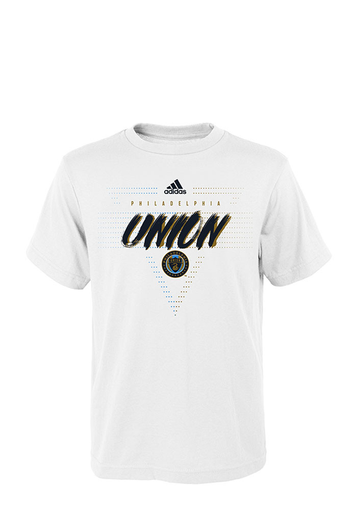 Philadelphia Union Kids White Aeroangle Short Sleeve T-Shirt - Image 1
