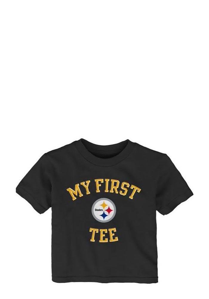 Pittsburgh Steelers Baby T-Shirt Black My First Short Sleeve Tee - Image 1