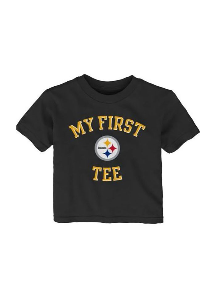 Pittsburgh Steelers Baby T-Shirt Black My First Short Sleeve Tee - Image 2