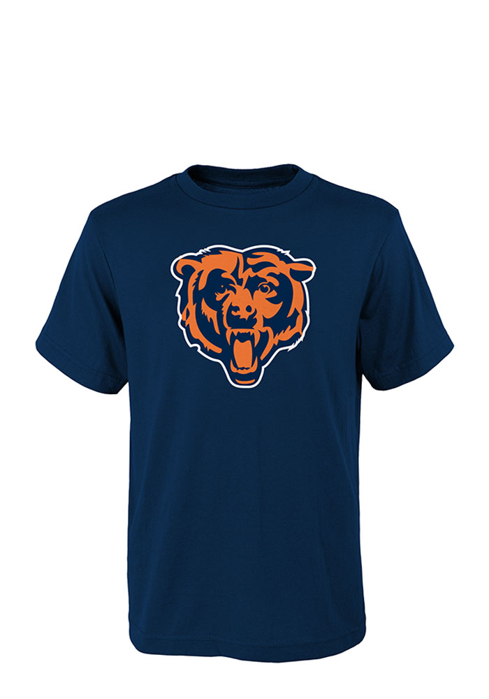 Chicago Bears Youth Navy Blue Team Logo Short Sleeve T-Shirt - Image 1