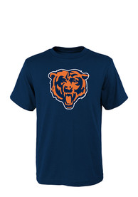 Chicago Bears Youth Navy Blue Team Logo T-Shirt