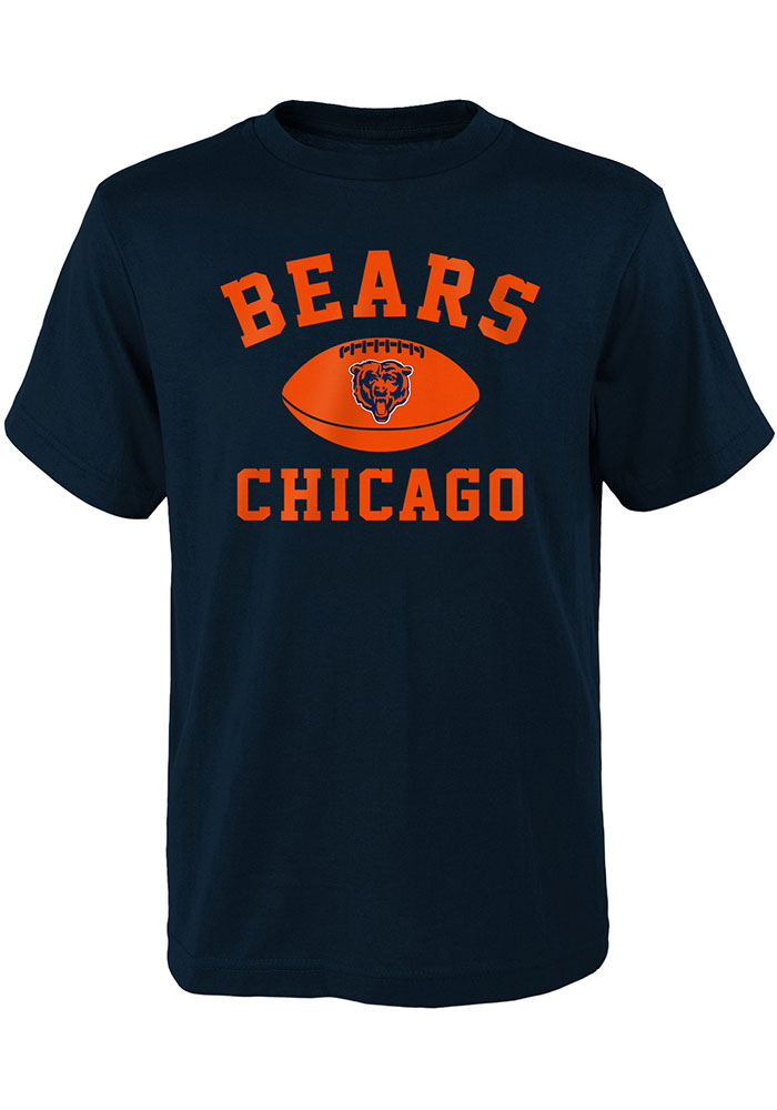 Chicago Bears Youth Navy Blue Standard Issue Short Sleeve T-Shirt - Image 1