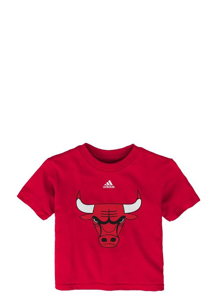 Chicago Bulls Baby T-Shirt Red Team Logo Short Sleeve Tee - Image 1