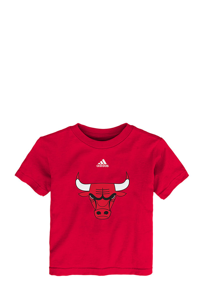 Chicago Bulls Toddler Red Team Logo Short Sleeve T-Shirt - Image 1