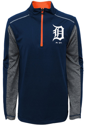 Detroit Tigers Kids Club Series Navy Blue Quarter Zip Shirt