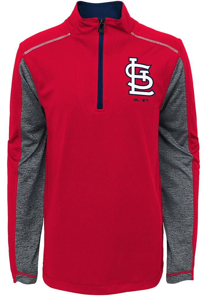 St Louis Cardinals Kids Navy Blue Club Series Long Sleeve Quarter Zip Shirt - Image 1