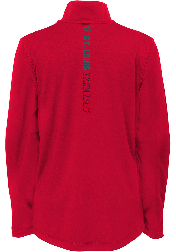 St Louis Cardinals Kids Navy Blue Club Series Long Sleeve Quarter Zip Shirt - Image 2