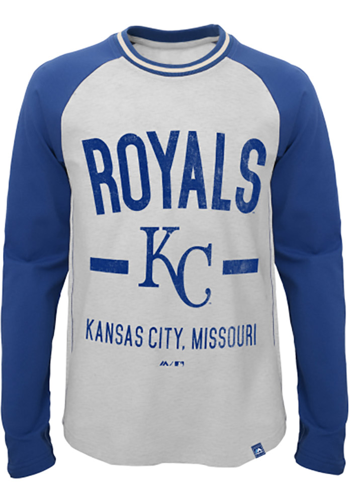 Kansas City Royals Youth Grey Our Home Long Sleeve Fashion T-Shirt - Image 1