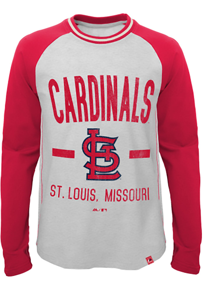 St Louis Cardinals Youth Grey Our Home Long Sleeve Fashion T-Shirt - Image 1