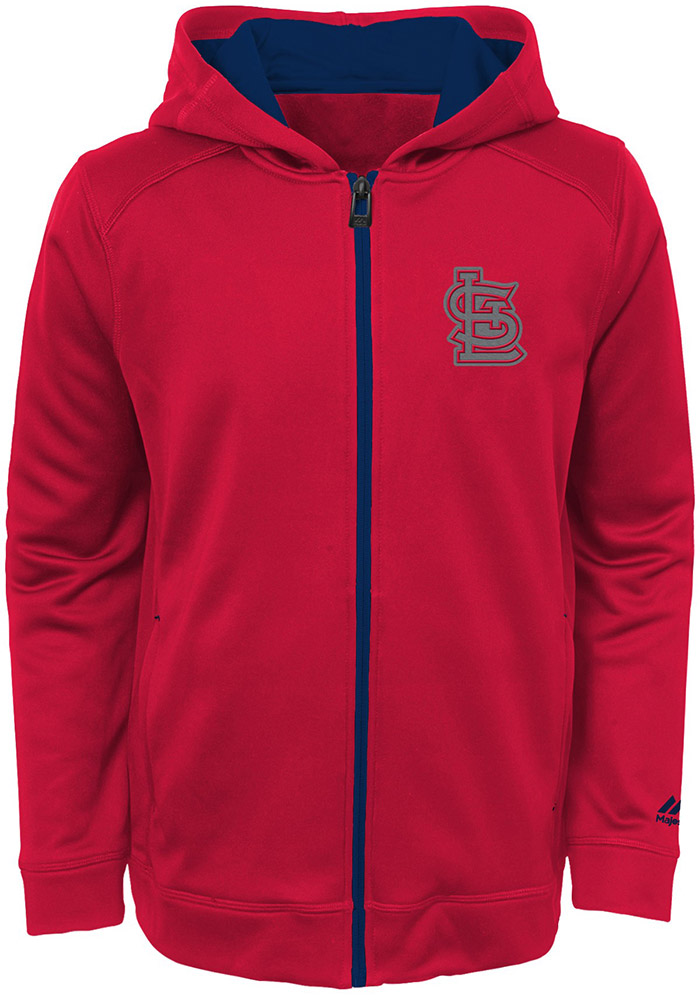 St Louis Cardinals Youth Red Club Series Long Sleeve Full Zip Jacket - Image 1