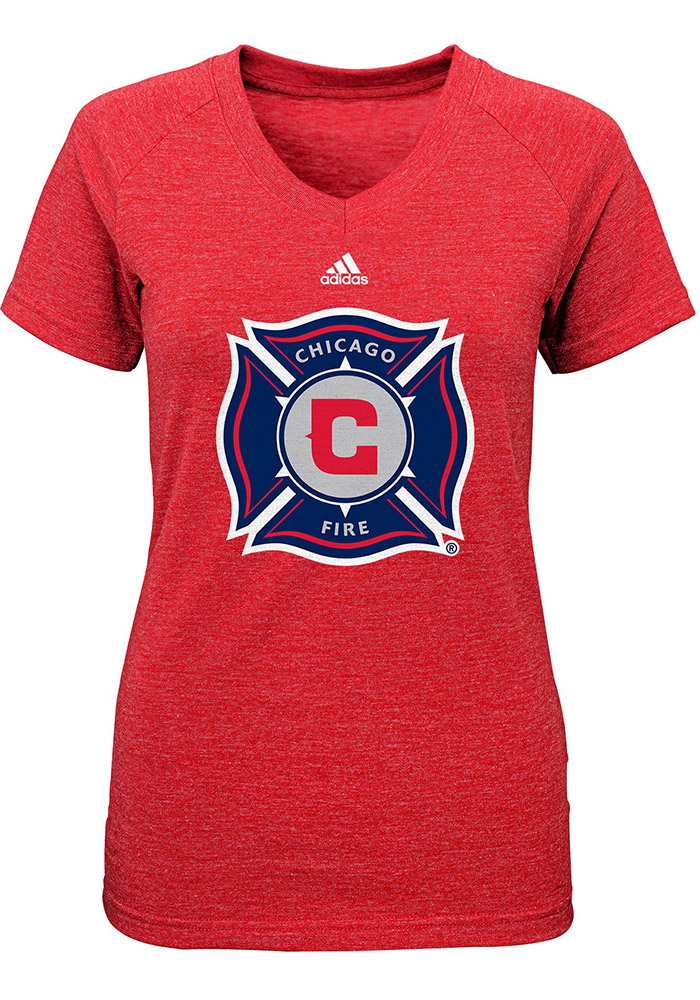 Chicago Fire Girls Red Primary Logo Short Sleeve Tee - Image 1