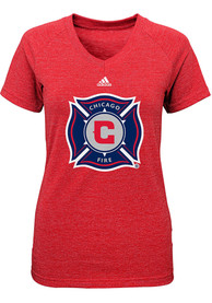 Chicago Fire Girls Red Primary Logo T-Shirt