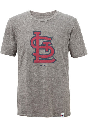 St Louis Cardinals Kids Grey Fast Pitch Fashion Tee