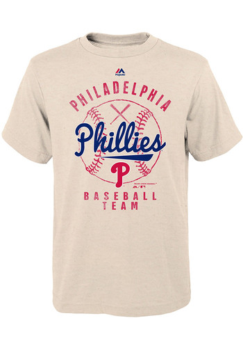 Philadelphia Phillies Youth Oatmeal First Print Short