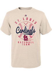 St Louis Cardinals Youth Oatmeal First Print Fashion Tee