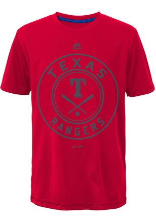 Texas Rangers Kids Red Behind Home Plate Performance T-Shirt