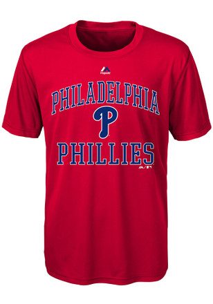 Philadelphia Phillies Youth Red City Wide T-Shirt