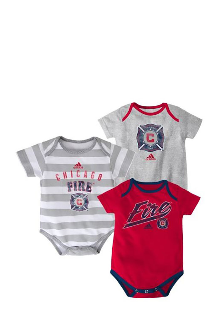 Chicago Fire Baby Red Hat Trick One Piece - Image 1
