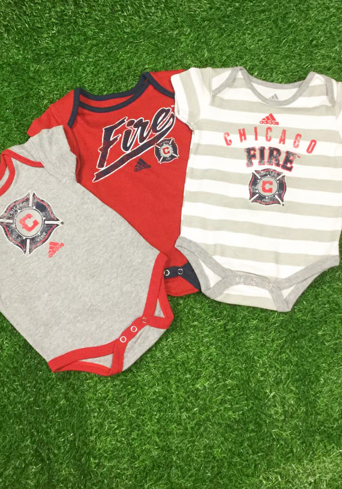 Chicago Fire Baby Red Hat Trick One Piece - Image 2