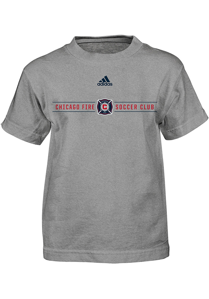 Chicago Fire Boys Grey Primary Short Sleeve T-Shirt - Image 1