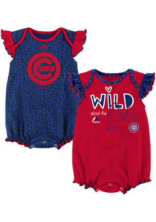 Chicago Cubs Baby Blue Team Sparkle Creeper